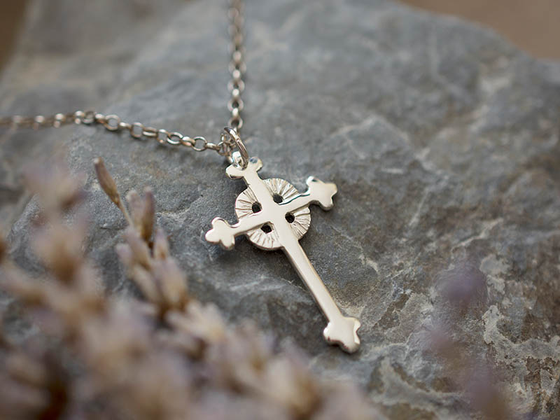 A picture of 'Silver Breton Cross Pendant''