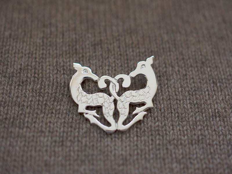 A picture of 'Silver Cwm Cych Deer Brooch''