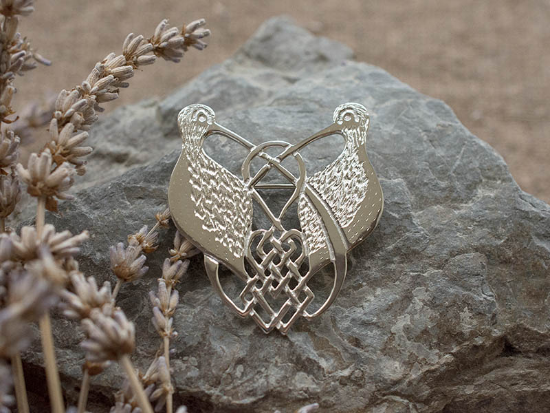 A picture of 'Silver Curlews Brooch''