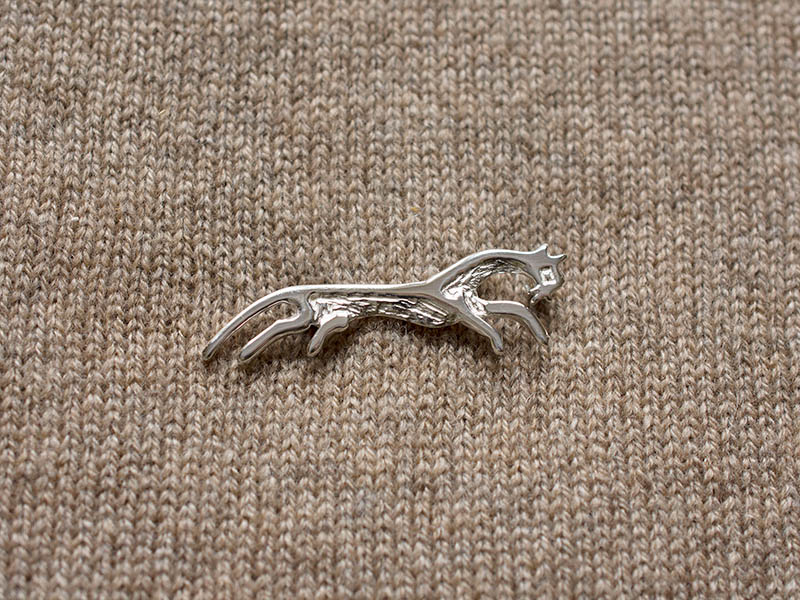 A picture of 'Silver White Horse Brooch''