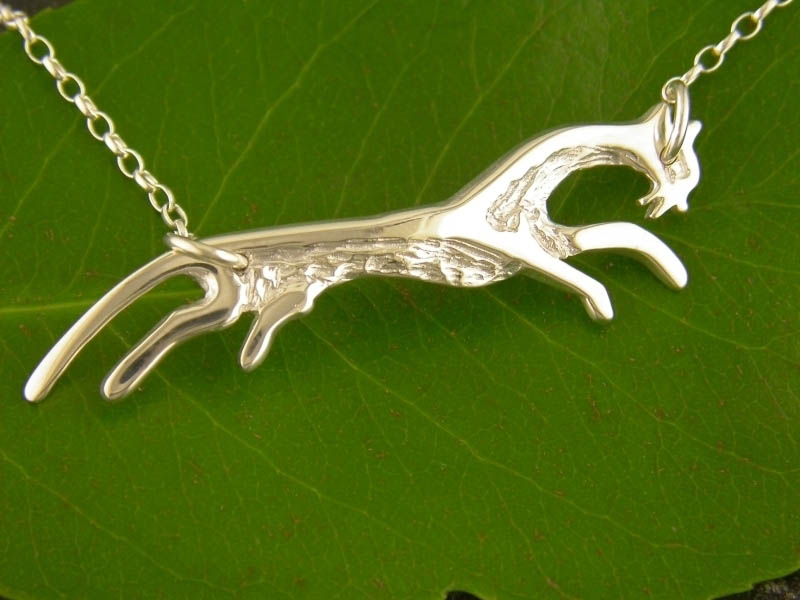 Silver White Horse Necklet