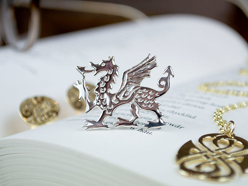 A picture of 'Silver Large Dragon Brooch''