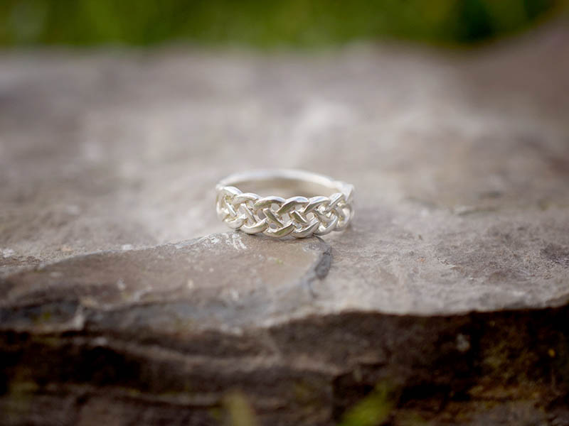 A picture of 'Silver Pierced Knot Ring''