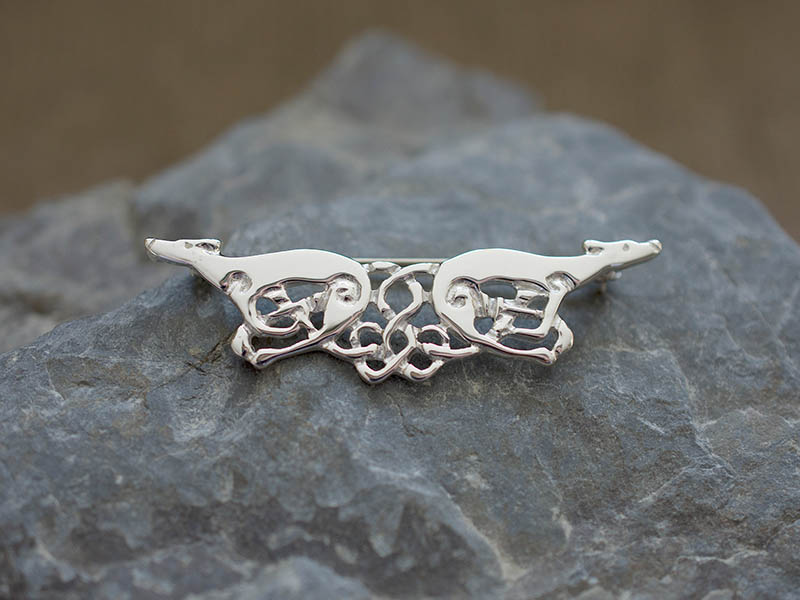 A picture of 'Silver Greyhounds Brooch''