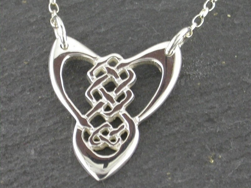 A picture of 'Silver Trinity Knot Necklet''
