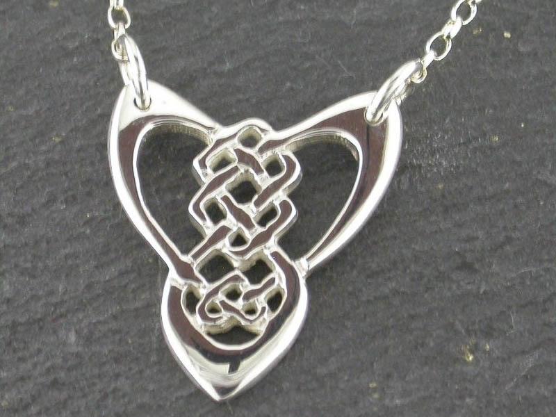 Silver Trinity Knot Necklet