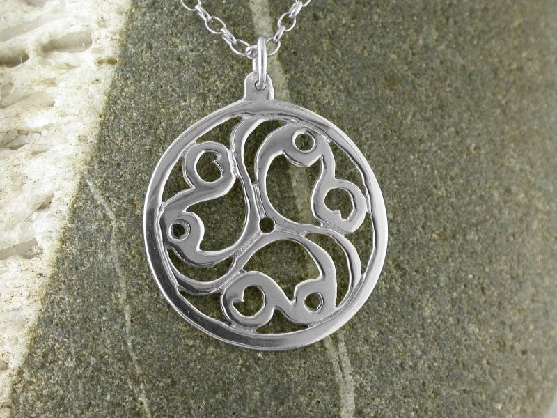 A picture of 'Silver Talyllyn Triskele Pendant''