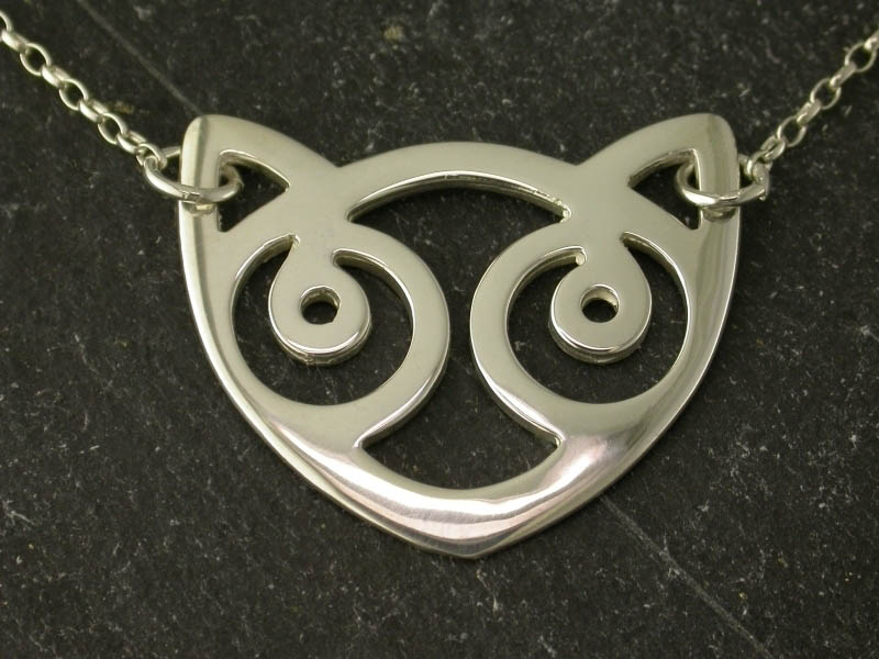 A picture of 'Silver Snowdon Cat Necklet''