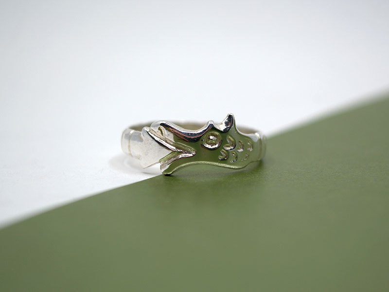 A picture of 'Silver Circle Dragon Ring''