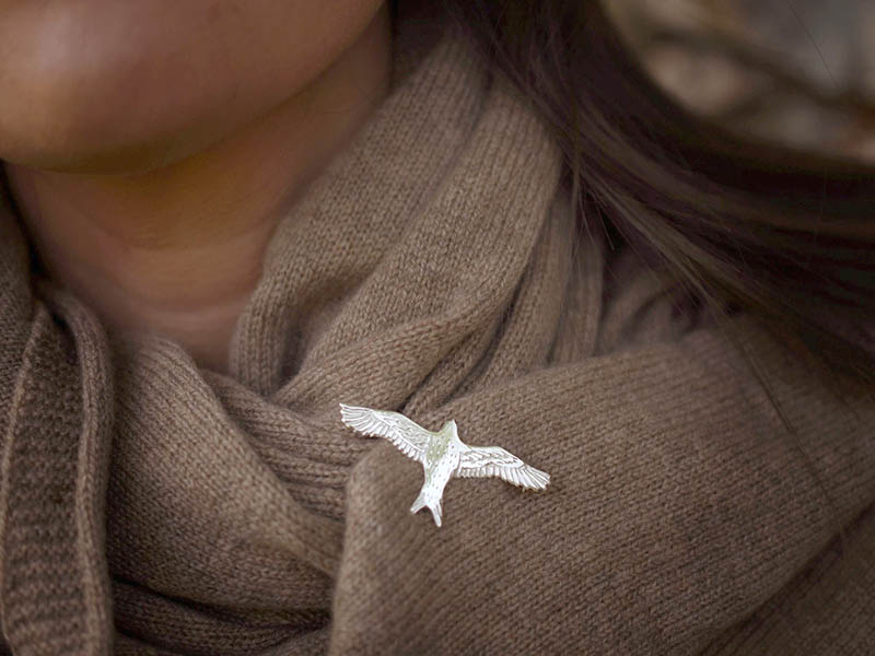A picture of 'Silver Red Kite Brooch''