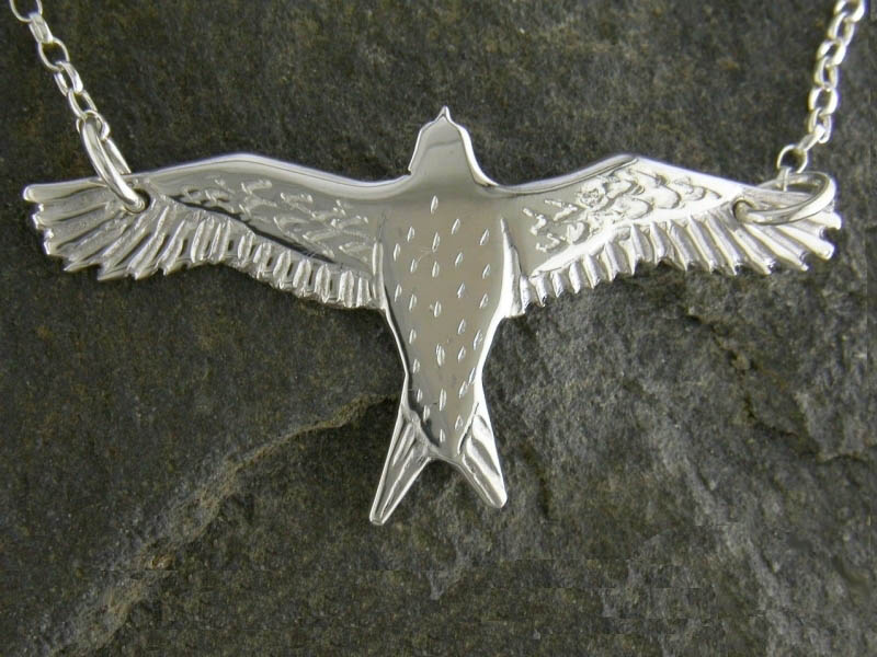 A picture of 'Silver Red Kite Necklet''