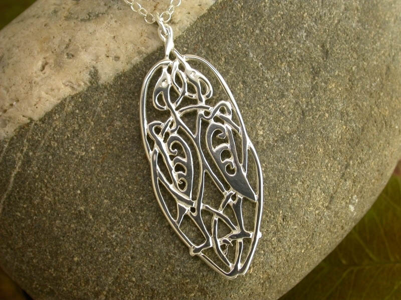 Silver Crane Pendant