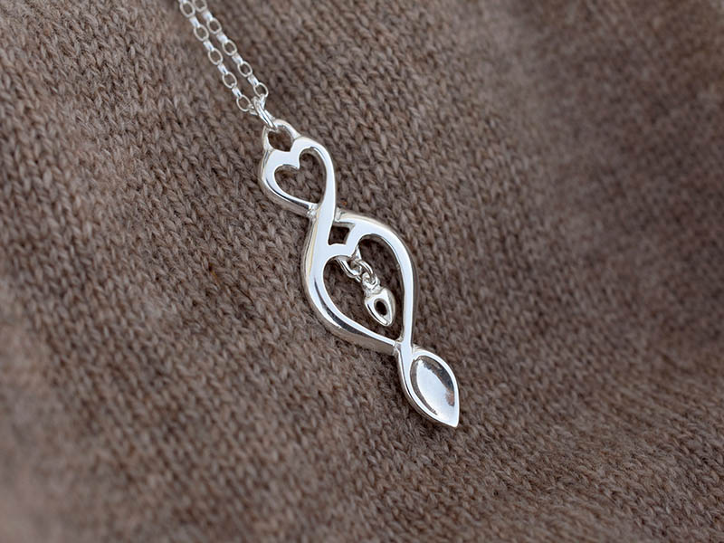 A picture of 'Silver Triple Love-spoon Pendant''