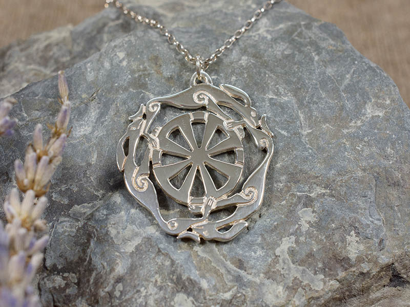 A picture of 'Silver Melangell Pendant''