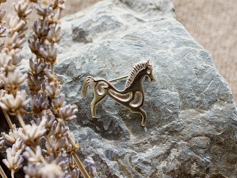 A picture of 'Silver Horse Brooch''