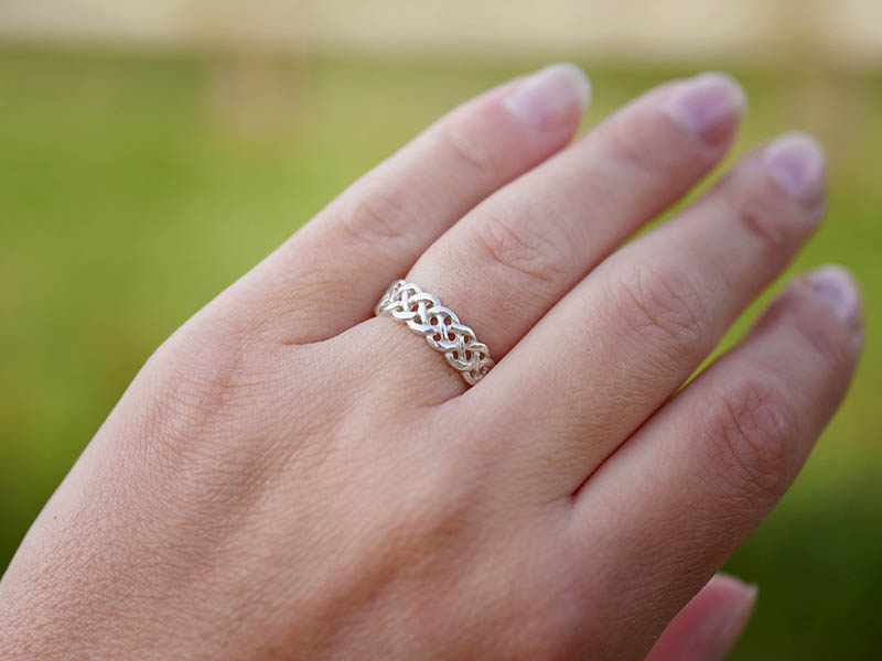 A picture of 'Silver Plait Knotwork Ring''