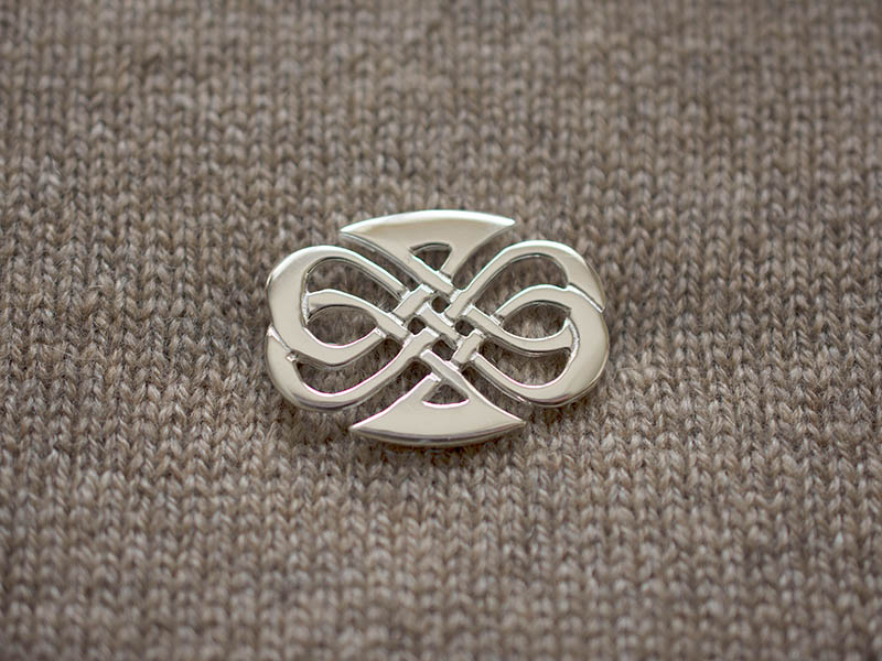 Silver Seaside Brooch
