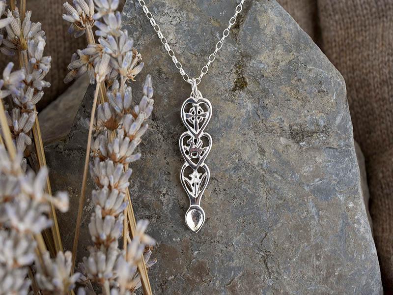 A picture of 'Silver Dragon Love-spoon Pendant''