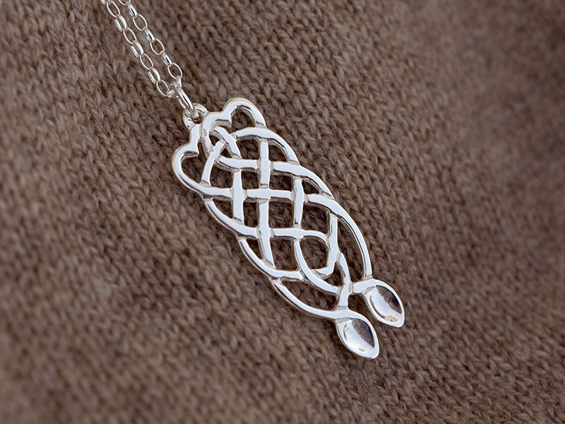 A picture of 'Silver Eternity Love-spoon Pendant''