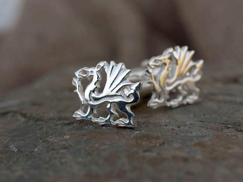 A picture of 'Silver Welsh Dragon Cufflinks''