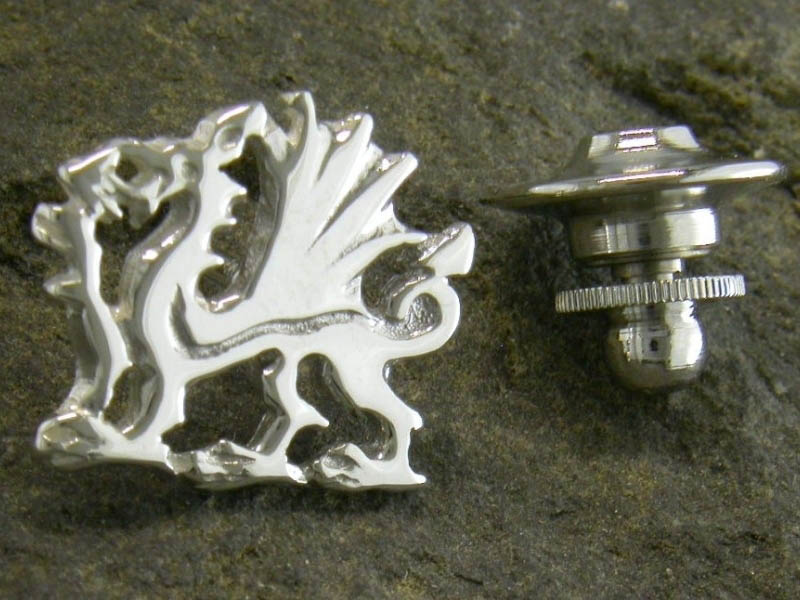 A picture of 'Silver Welsh Dragon Pin''