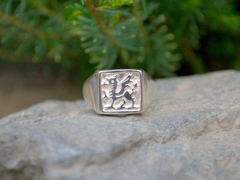 A picture of 'Silver Welsh Dragon Ring''