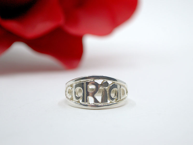 A picture of 'Silver Cariad Ring''