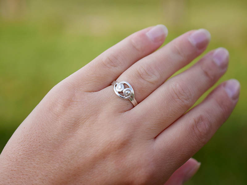 A picture of 'Silver Snowdonia Ring''