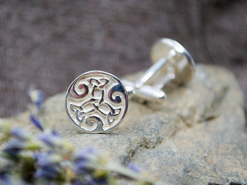 A picture of 'Silver Dylan Cufflinks''