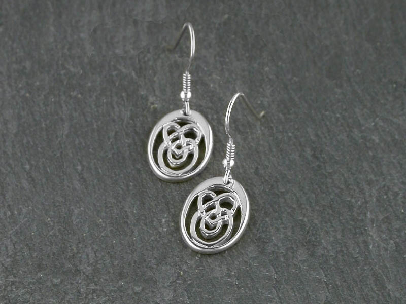 A picture of 'Silver Small Calon Lân Earrings''