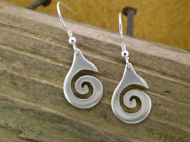 A picture of 'Silver Small Breakers Earrings''