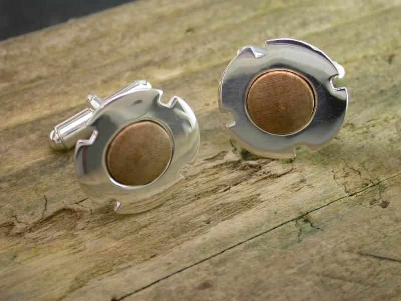 A picture of 'Silver Cilmeri Silver Cufflinks''