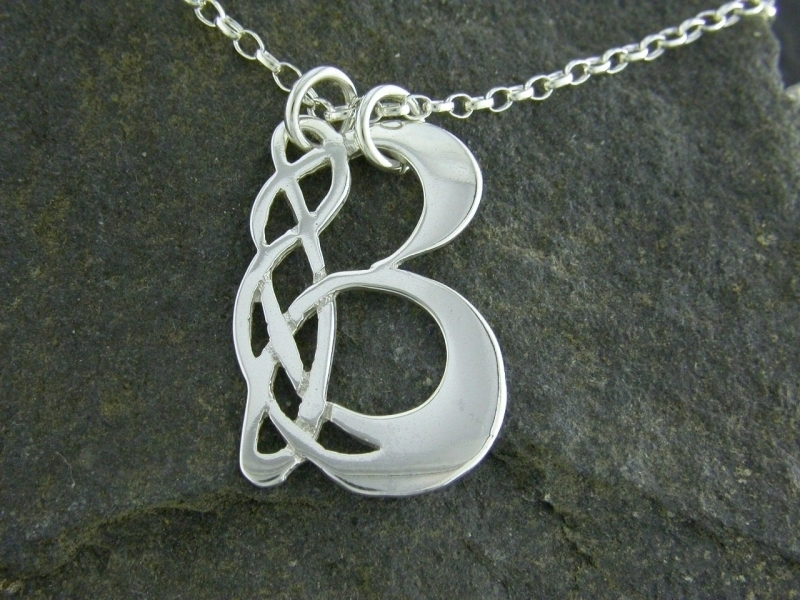 A picture of 'Silver Pendant - Initial B''