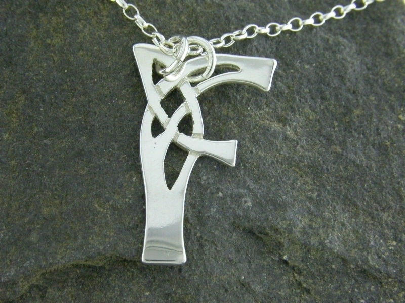 A picture of 'Silver Pendant - Initial F''
