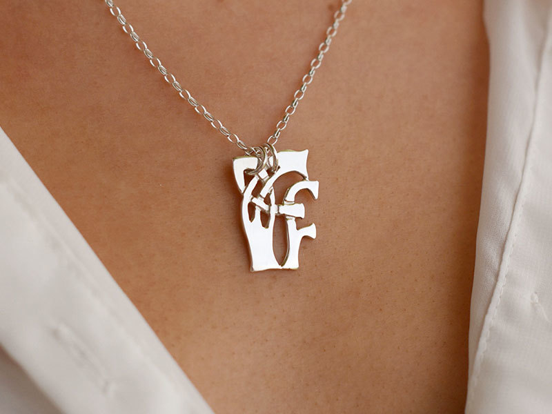 A picture of 'Silver Pendant - Initial FF''