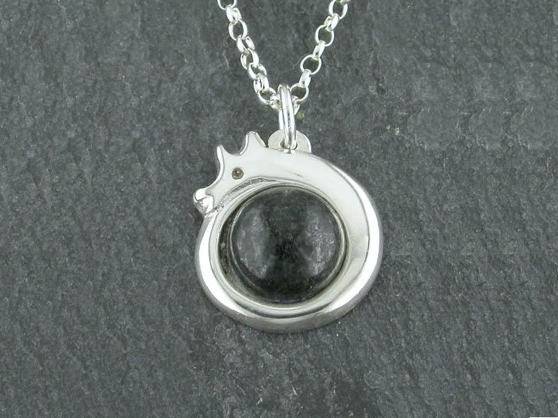 Silver Preseli Dragon Pendant