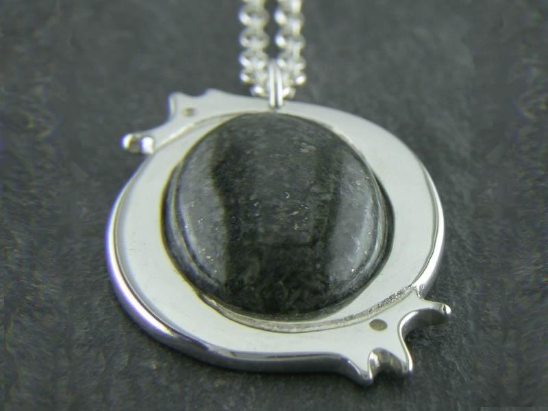 A picture of 'Silver Large Preseli Dragon Pendant''