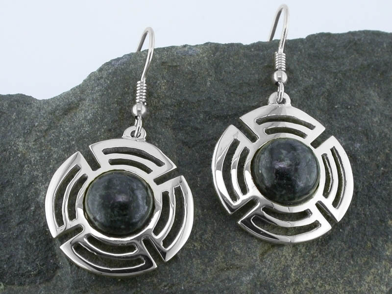 A picture of 'Silver Preseli Planetary Earrings''
