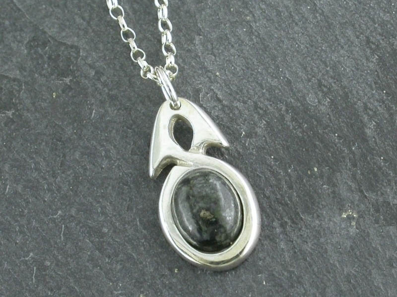 A picture of 'Silver Preseli Simple Knot Pendant''