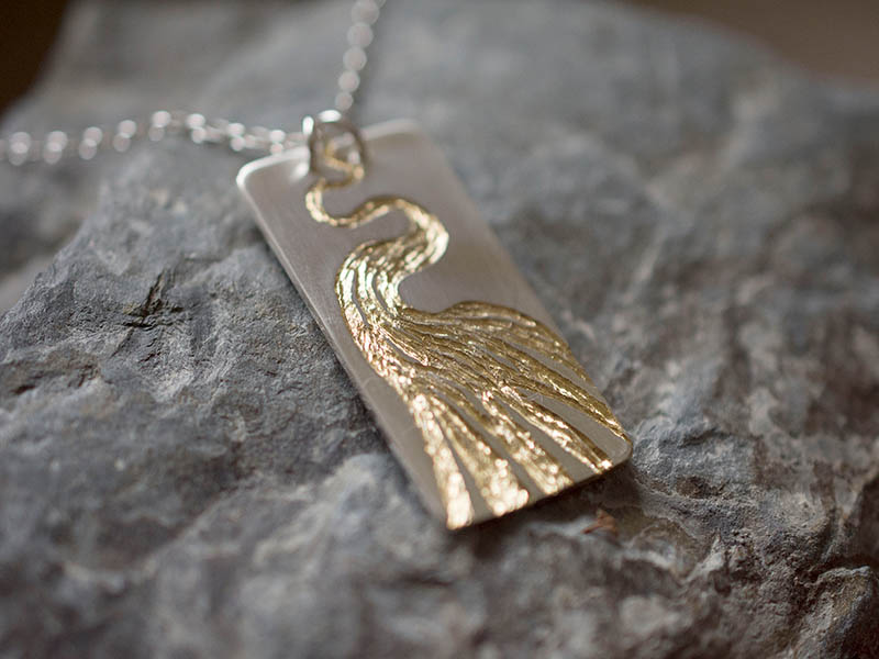 A picture of 'Silver and Gold Afon Teifi Pendant''