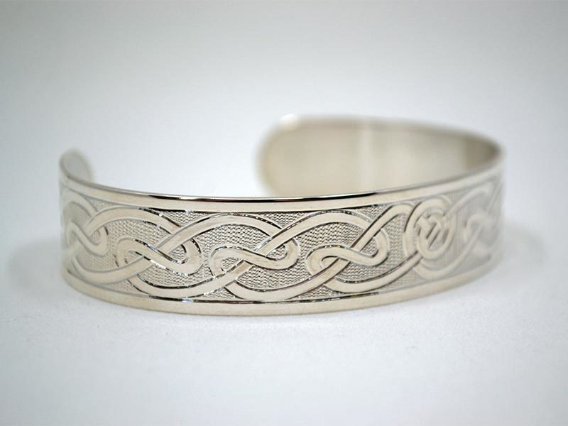 A picture of 'Silver Hafren Bangle''