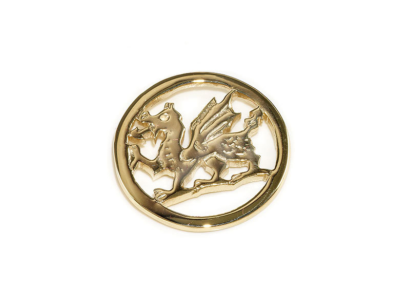 A picture of '18ct Rhiannon Welsh Gold Dragon Pin''