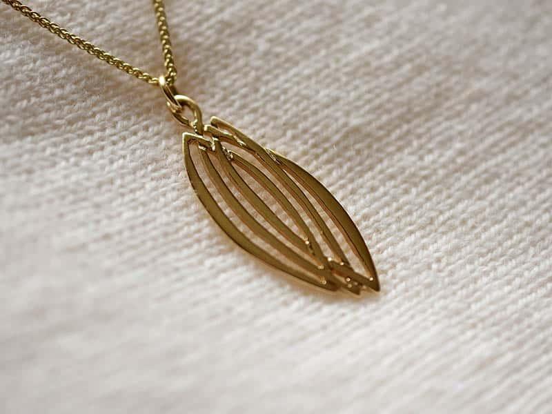 A picture of '9ct Rhiannon Welsh Gold Ash Grove Pendant''